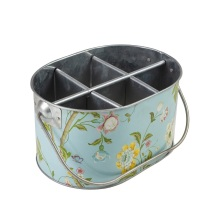Aufkleber Vintage Flowers Ice Bucket Tub