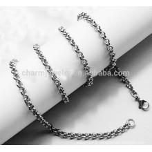 BXG010 2mm d'épaisseur 316L en acier inoxydable Chaîne en alliage rond italien SNAKE CHAINE anklet collier avec bijoux en fer à chevrons