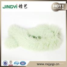 Al por mayor Tibetan Mongolian Lamb Fur and Feather Scarf