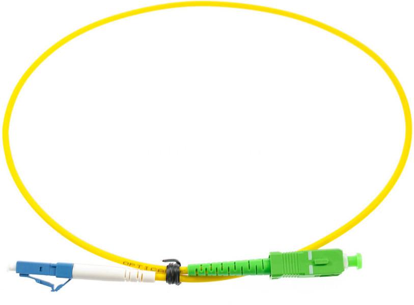 LC-SC APC singlemode simplex patch cable