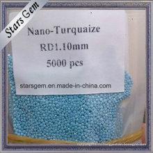 Оптовая цена круглый Loose машина вырезать Нано бирюзовые камни для изготовления ювелирных изделий