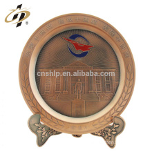 Home decor custom antique bronze red return gifts metal souvenir plate