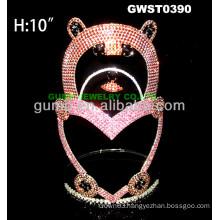 large bear tiara crown -GWST0390