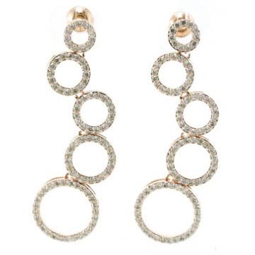 2015 gute Qualität u. Art- und Weiseschmucksachen 3A CZ 925 silberner Ohrring (E6511)