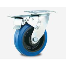 Тяжелый тип двойного шарикоподшипника серии тормозов Blue Rubber Caster Khx3-R7