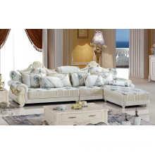 Silver Color Royal Sofa, Fabric Sofa, New Classic Sofa (A889)