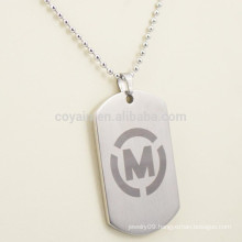 Custom Metal Men Tag Necklace With Your Own Logo