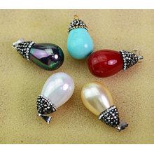 Colgante de varios colores de perlas naturales naturales