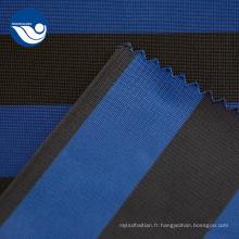Tissu de doublure à tricoter imprimé à la mode à rayures tissées