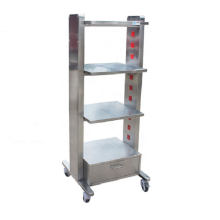 professional high quality  stainless steel pet chinic instrument load-bearing cart with socket price