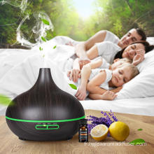 Humidificateur à ultrasons ultrasonique alimenté par batterie 400ml en bambou