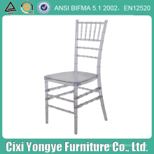 Cadeira Crystal Clear Plexi Resin Chiavari para Eventos