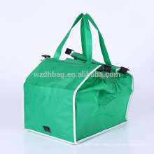 Best Seller Non Woven Grab Bag Grocery Shopping Cart Trolley Tote Bag For Supermarket, Promotion