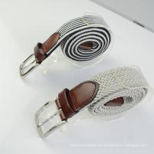 Fashion Line Weave en relieve Logo Multi Color cintura cinturón