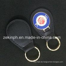 Metall benutzerdefinierte Leder Schlüsselanhänger für Geschenk
