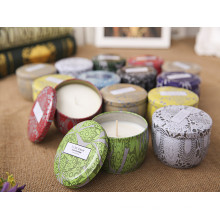 Unique Scented High-End New Design Tin Candle for Holiday