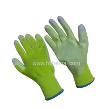 Hi-Vis Green PU Revêtue Gants Femmes I-Touch Fingertips Work Glove