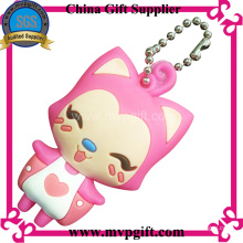 Customized Rubber Keychain with 3D Logo