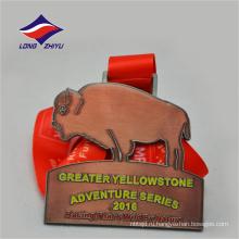 Античная медь приключения хороший дизайн награда изготовленный на заказ металл спорт медаль