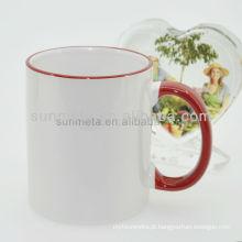 Sunmeta 11 oz em branco sublimação calor imprensa cerâmica caneca de cor