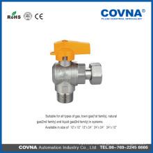 Válvula de gas de latón de cobre Válvula de bola de gas dibujo de válvula de mariposa
