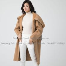 Lady Cashmere Coat With Fur Mink