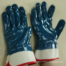 NMSAFETY high quality cut 2 blue nitrile oil industrial work glove