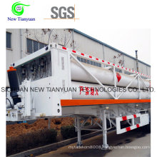 11-Tube H2 He Container Semi-Trailer with 24.8m3 Total Volume