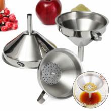 Kitchen 3 Piece Stainless Steel Funnel Set