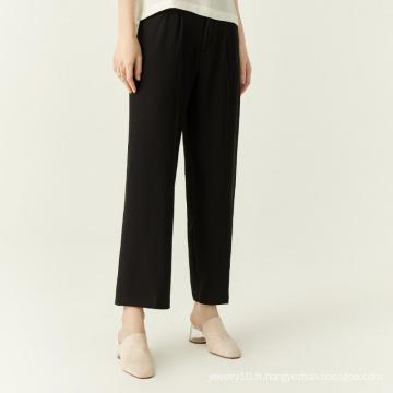 Pantalons longs pour femmes à jambe large et solide