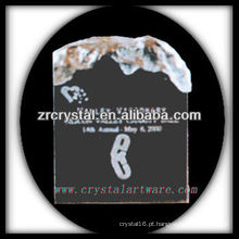 design atraente troféu de cristal em branco X057