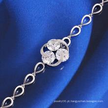Atacado rhodium banhado a moda pulseira de jóias traje
