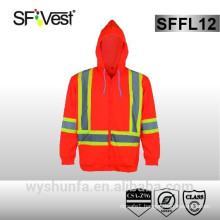 hi vis workwear reflective sweatshirt road traffic contraction safety equipment safety hoodie Canada style