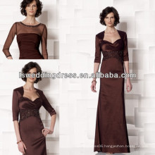 HM2023 Classical beaded mother of the bride jacket dresses modest
