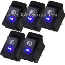 5 X 12V 35A Car Auto Fog Light Rocker Toggle Switch Blue LED Dashboard Sales