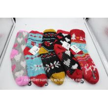winter knitting wool fuzzy warm socks indoor home socks anti-slip for wholesale