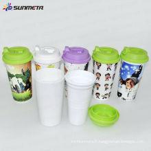 Sunmeta Tasses à café à double paroi isolées en plastique --- fabricant
