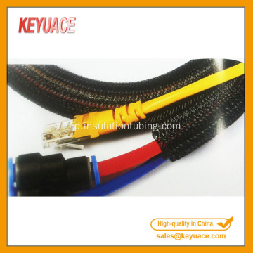 Self Closing Braided Cable Perlindungan Lengan Electric Wrap