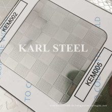 201 Edelstahl Silber Farbe geprägt Kem005 Blatt
