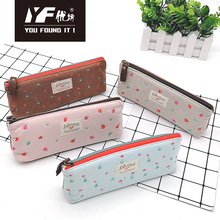 Small flower style embroidery cotton pencil case
