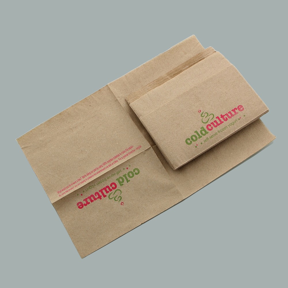 Napkins can be customized logo and color