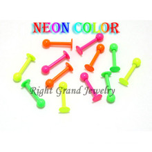 Neon Color Anodized Surgical Steel Free Sample Lip Rings