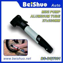 Mini bomba de ar com uso de tubo de alumínio para a bicicleta
