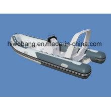 Barco inflável de fibra de vidro de 4,7 m Rib 470 para esportes marítimos