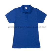 Förderung-Baumwoll erwachsenes kurzes Hülsen-T-Shirt, Polo-Hemd