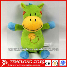 hot sale plush hippo rattle toy for baby