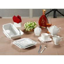 47pcs baby dinner set square shape ceramic dinner set