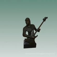 Büsten Messingstatue E-Gitarre Dekor Bronze Skulptur Tpy-746