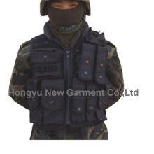 Colete tático preto para militares / polícia (hy-v053)