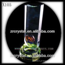 troféu de cristal em branco X105